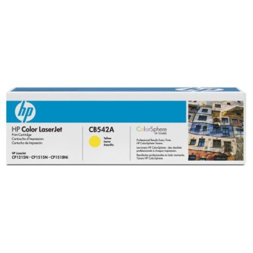 HP CB542A, Toner Cartridge- Yellow, CM1312, CP1215, 1217- Original