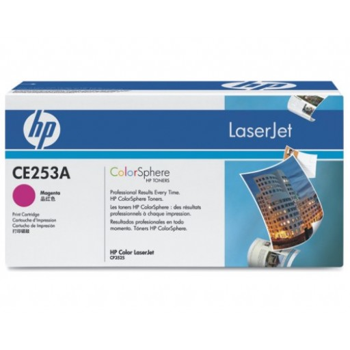 HP CE253A, Toner Cartridge Magenta, CP3525, CM3530, CP3520- Original