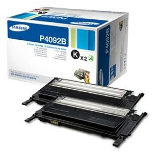 Samsung CLT-P4092B Toner Cartridge, CLP 310, 315, CLX 3170, CLX 3175 - Twin Pack Black Genuine