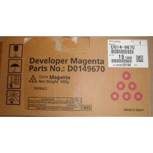 Ricoh D0149670, Developer Magenta, MP C6000, MP C7500- Original