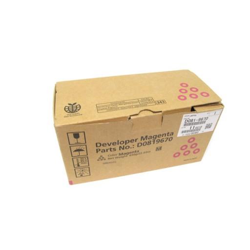 Ricoh D0819670 Developer Magenta, MP C6501, MP C7501 - Genuine
