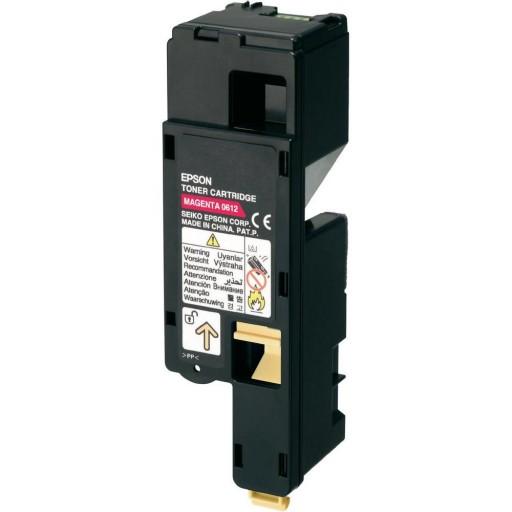 Epson C13S050612 Toner Cartridge, AcuLaser C1700, C1750, CX17 - HC Magenta Genuine