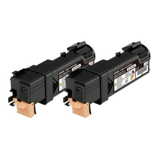 Epson C13S050631 Toner Cartridge Twin Pack, AcuLaser C2900, CX29 - Black Genuine