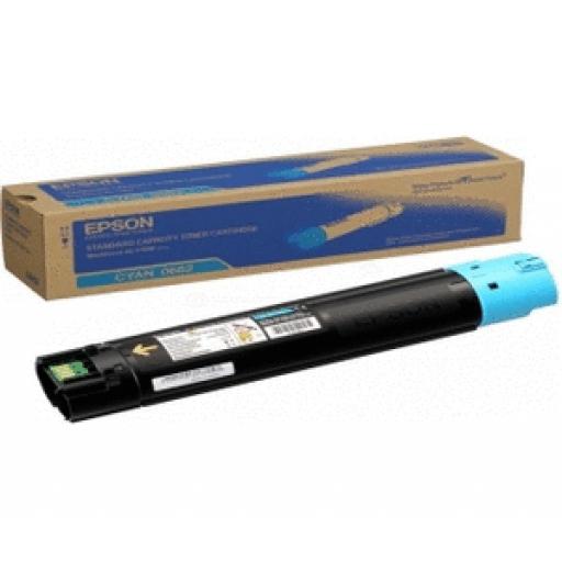 Epson C13S050662 Toner Cartridge, Workforce AL-C500 - Cyan Genuine