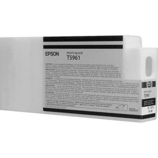 Epson C13T596100, T5961 Ink Cartridge, Stylus Pro 7700, 7890, 7900, 9700, 9890, 9900 - Photo Black Genuine