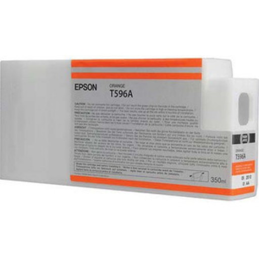 Epson C13T596A00, T596A Ink Cartridge, Stylus Pro 7700, 7890, 7900, 9700, 9890, 9900-Orange Genuine