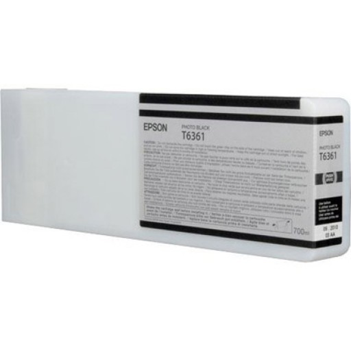 Epson C13T636100, T6361 Ink Cartridge, Stylus Pro 7700, 7890, 7900, 9700, 9890, 9900- HC Photo Black Genuine