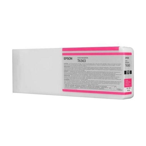 Epson C13T636300, T6363 Ink Cartridge, Stylus Pro 7700, 7890, 7900, 9700, 9890, 9900- HC Magenta Genuine
