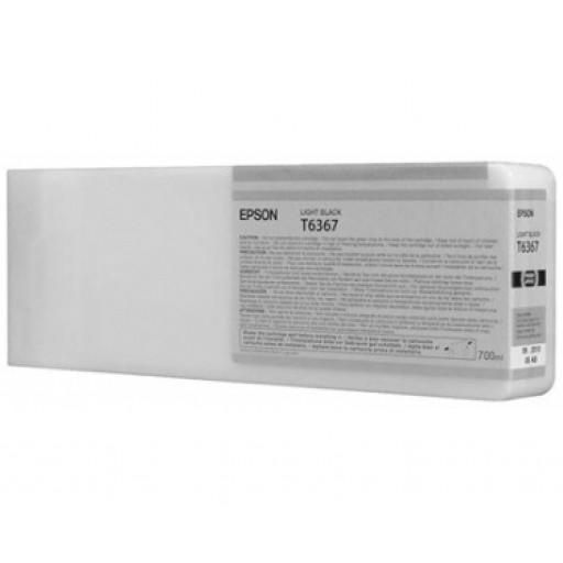 Epson C13T636700, T6367 Ink Cartridge, Stylus Pro 7700, 7890, 7900, 9700, 9890, 9900- HC Light Black Genuine