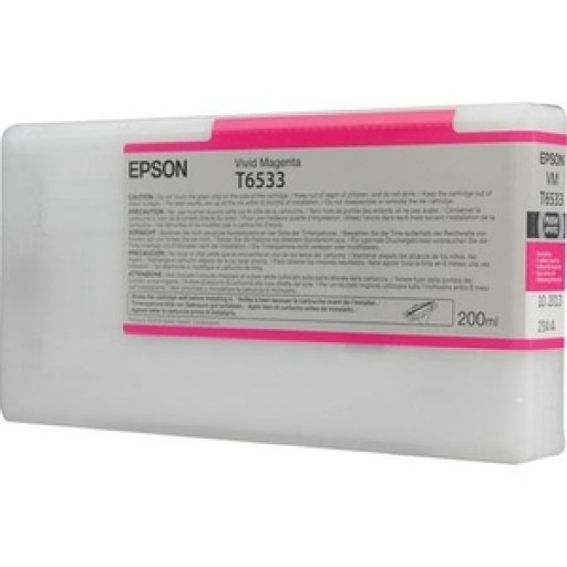 Epson C13T653300, T6533 Ink Cartridge, Stylus Pro 4900 - Magenta Genuine