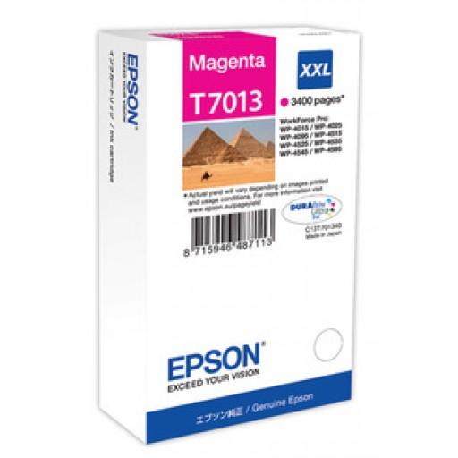 Epson C13T70134010, Ink Cartridge Extra HC Magenta, WP 4095, 4595, 4015, 4515, T7013 XXL- Original