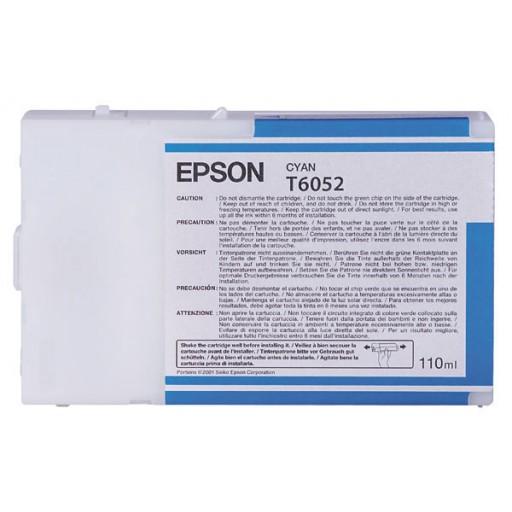 Epson T6052, C13T605200 Ink Cartridge, 4800, 4880 - Cyan Genuine