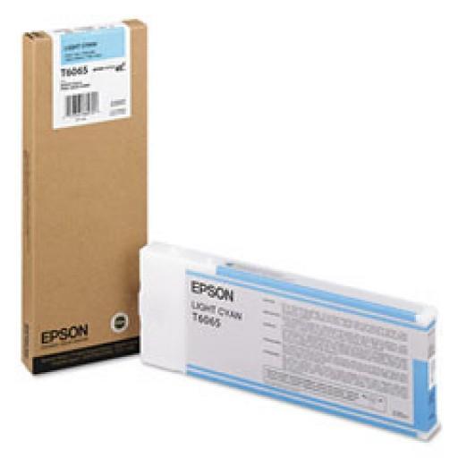 Epson T6065, C13T606500 Ink Cartridge, 4800, 4880 - HC Light Cyan Genuine