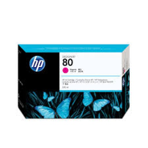HP C4847A, No.80 Ink Cartridge- HC Magenta, Designjet 1050, 1055- Original