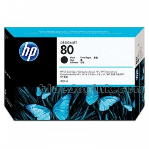HP C4871A, No.80 Ink Cartridge HC Black- Original