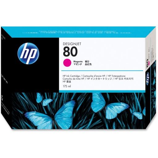 HP C4874A, No.80 Ink Cartridge- Magenta, Designjet 1050, 1055- Original