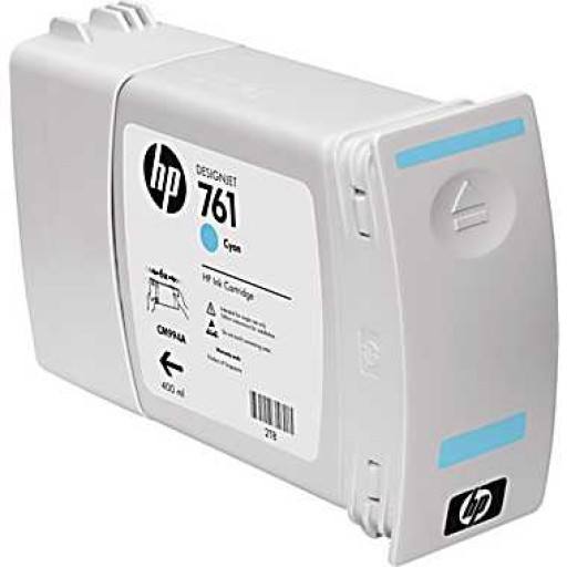 HP CM994A, 761 Ink Cartridge, Designjet T7100 - Cyan Genuine