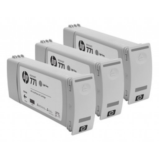 HP CR257A, 771 Ink Cartridge, Designjet Z6200 - Light Grey Multipack Genuine