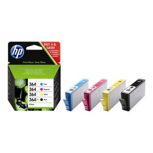 HP 364XL Ink Cartridge - Multipack Genuine, CZ676EE