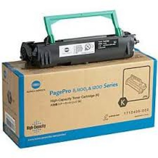 Konica Minolta 1710405-002 Laser Toner Cartridge HC Black, PagePro 1100, 1250, 8 - Genuine