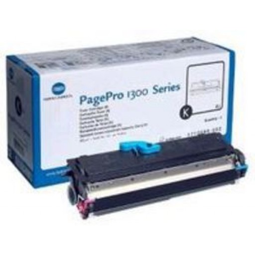 Konica Minolta 1710566-002 Toner Cartridge, PagePro 1300, 1350, 1380, 1390 - Black Genuine