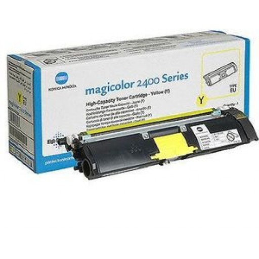 Konica Minolta 1710589-005 Toner Cartridge HC Yellow, Magicolor 2400, 2500 - Genuine