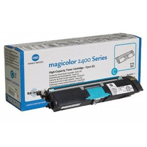 Konica Minolta 1710589-007 Toner Cartridge HC Cyan, Magicolor 2400, 2500 - Genuine