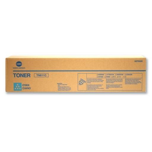Konica Minolta TN611C, Toner Cartridge- Cyan, C451, C550, C650- Original