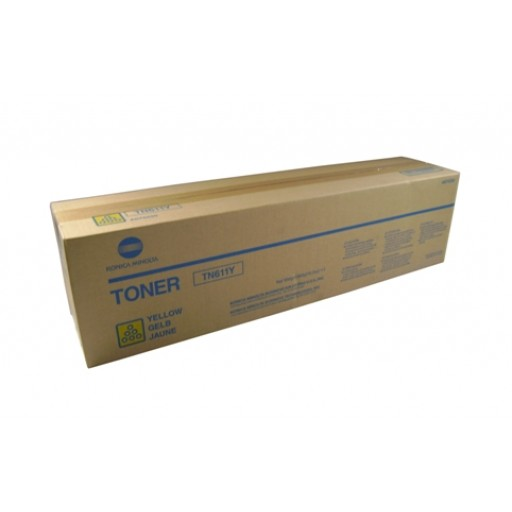 Konica Minolta TN611Y, Toner Cartridge- Yellow, C451, C550, C650- Original