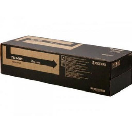 Kyocera Mita 1T02LF0NL0, TK-6705 Toner Cartridge, TASKalfa 6500i, 8000i - Black Genuine