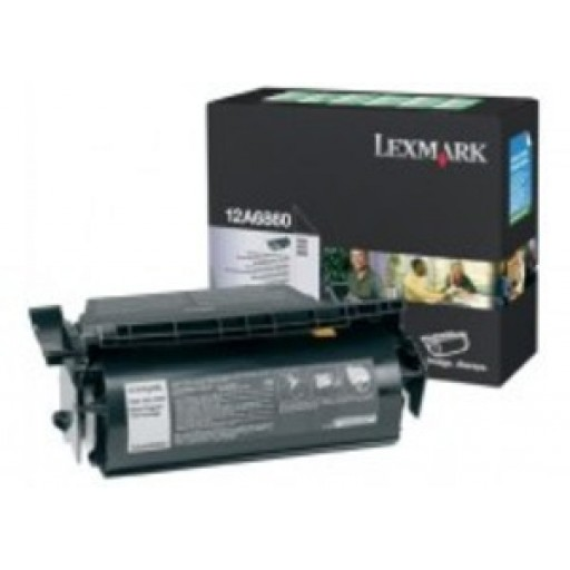 Lexmark 12A6860 Return Program Toner Cartridge, T620, T622 - Black Genuine