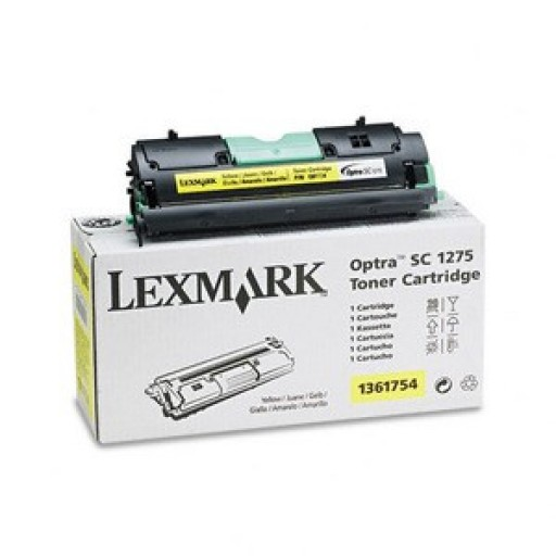 Lexmark 1361754 Toner Cartridge, Optra SC1275, SC4050 - Yellow Genuine
