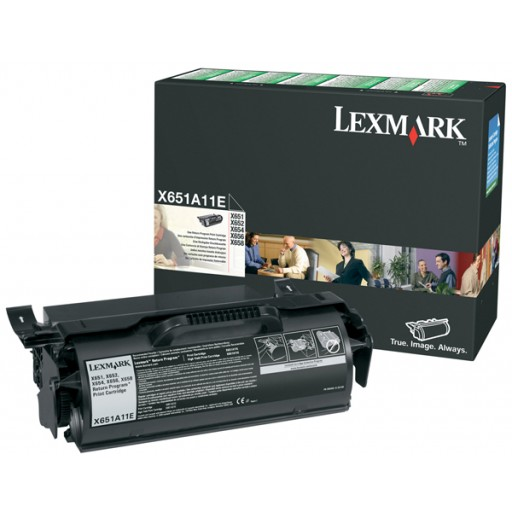 Lexmark 0X651A11E Toner Cartridge Black, X615, X650, X658, X656- Genuine