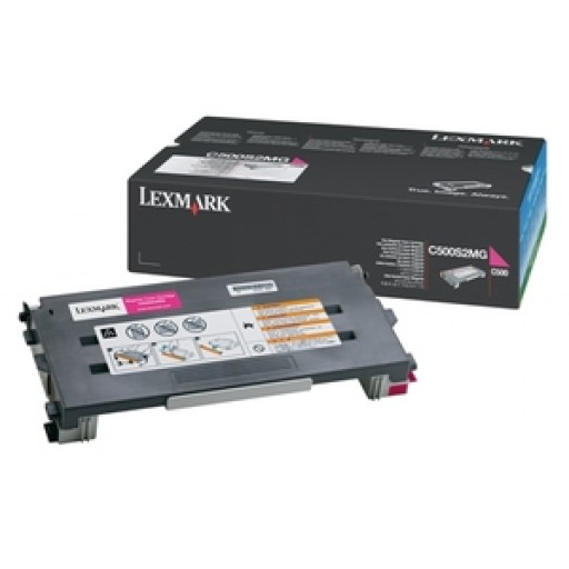 Lexmark C500S2MG Toner Cartridge, C500, X500, X502 - Magenta Genuine