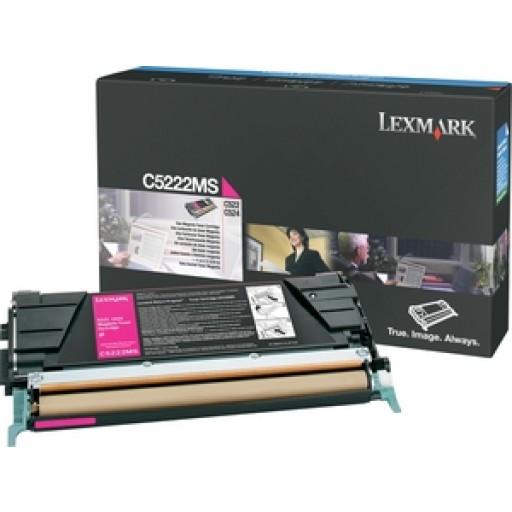 Lexmark C5222MS Toner Cartridge, C522, C524, C532, C534 - Magenta Genuine