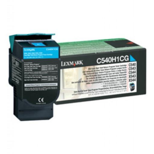 Lexmark C540H1CG, Return Program Toner Cartridge HC Cyan, C540, C543, C544, C546- Original