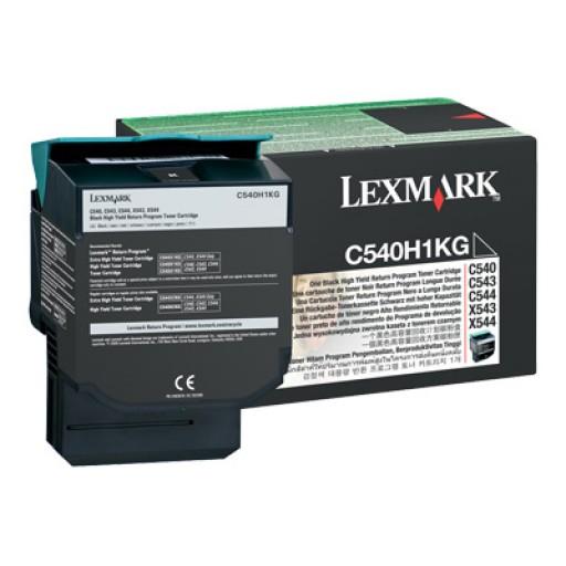 Lexmark C540H1KG, Return Program Toner Cartridge HC Black, C540, C543, C544, C546- Original