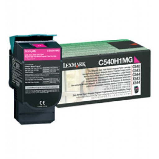 Lexmark C540H1MG, Return Program Toner Cartridge HC Magenta, C540, C543, C544, C546- Original
