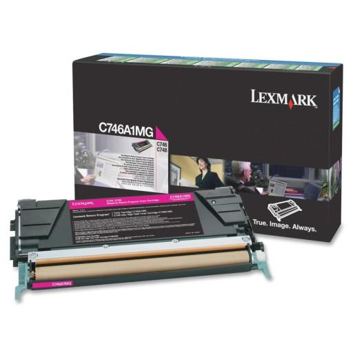 Lexmark C746A1MG, 746/748 Return Program Toner Cartridge - Magenta