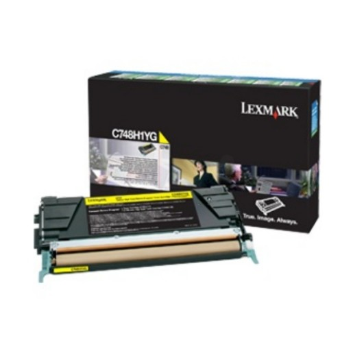 Lexmark C748H3YG, Toner Cartridge Yellow, C748- Original