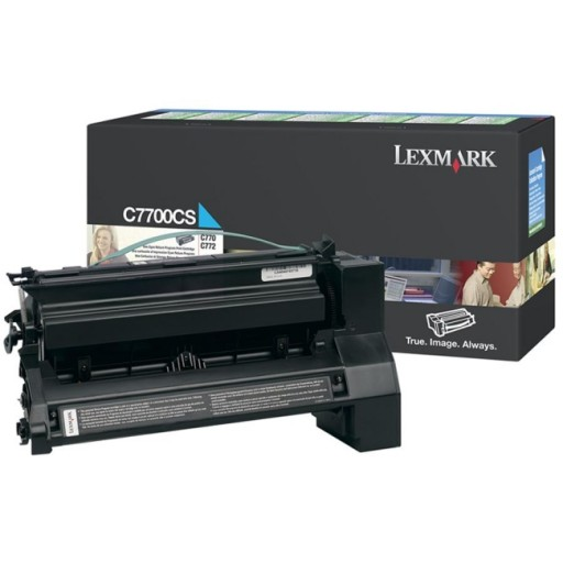 Lexmark C7700CS, Return Program Toner Cartridge Cyan, C770, C772, C722- Original