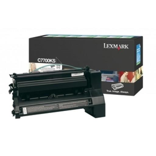 Lexmark C7700KS, Return Program Toner Cartridge Black, C770, C772, C722- Original