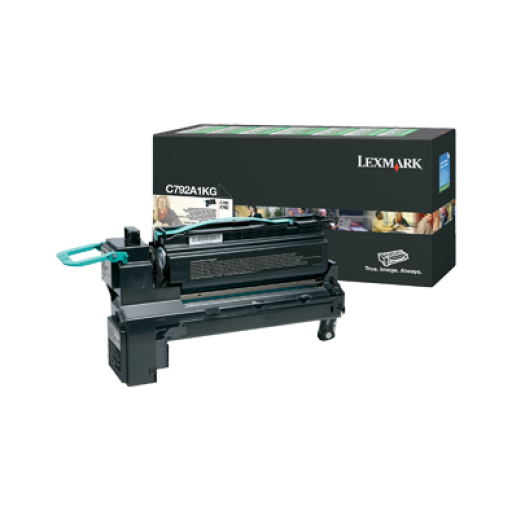 Lexmark C792A1KG, C792/X792 Toner Cartridge 6k - Black