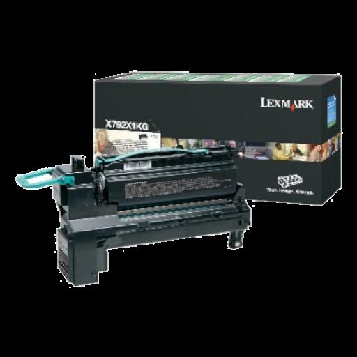 Lexmark X792X1KG, X792 Toner Cartridge 20k - Black