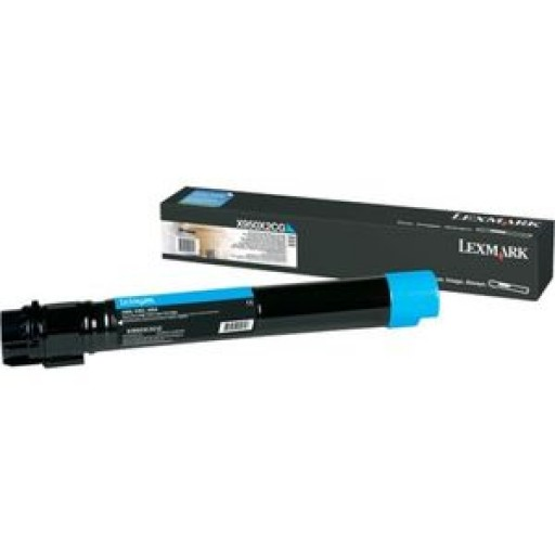 Lexmark X950X2CG, Toner Cartridge Extra HC Cyan, X950, X952, X954- Original