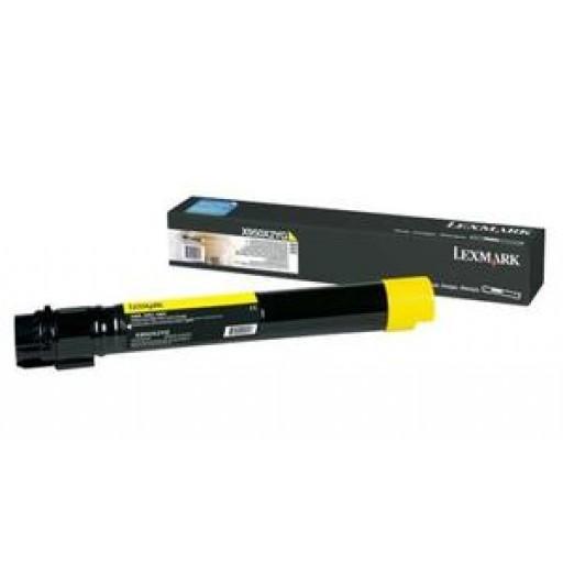 Lexmark X950X2YG, Toner Cartridge Extra HC Yellow, X950, X952, X954- Original
