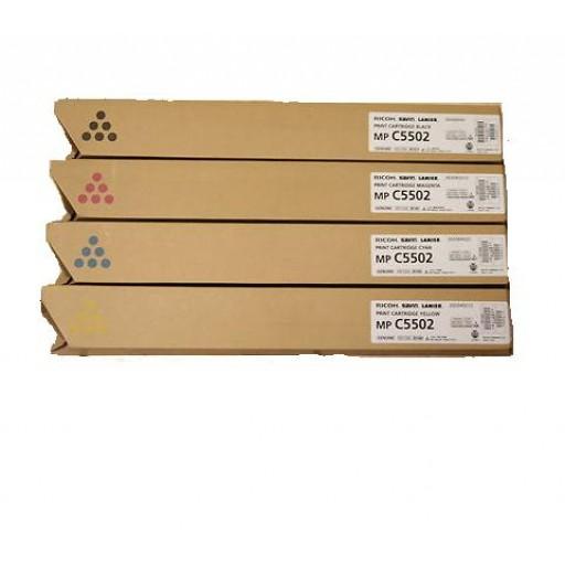 Ricoh 841683, 841684, 841685, 841686, Toner Cartridge Value Pack, MP C4502, MP C5502- Original