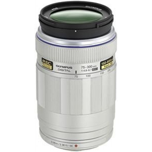 Olympus Pen 75-300mm (150-600mm Equiv) Silver Lens