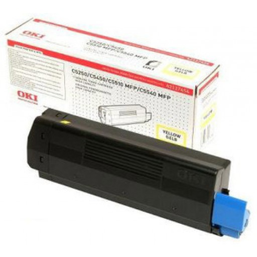 Oki 42804545 Toner Cartridge Yellow, Type C6 , C5250, C5450, C5510, C5540- Genuine