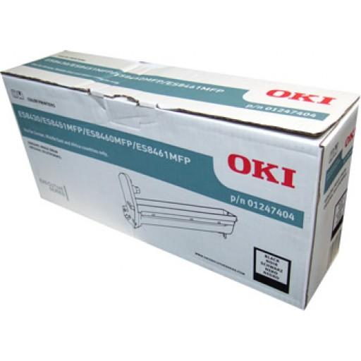 OKI 01247404, Drum Unit Black, ES8430, ES8451, ES8460, ES8461- Genuine